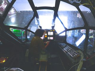 Aircraft interior on set