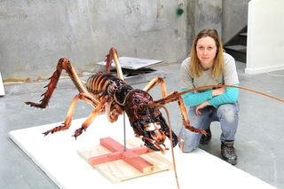 Lily Uivel with the Weta