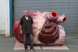 Rob Uivel with the third whales heart.
