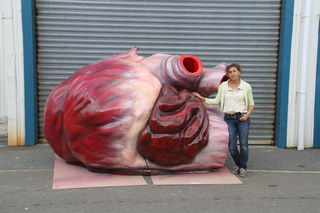 Sue Dorrington with her third whales heart.
