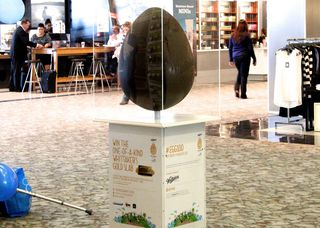 The egg at Wellington airport.
