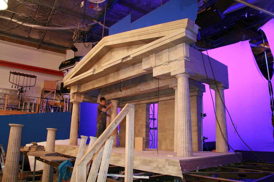 The parthenon at a quarter scale.