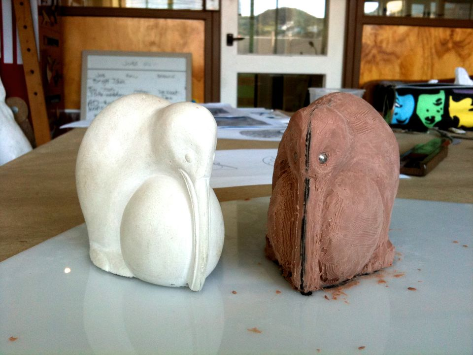 Sculpting design and development work for an Easter Kiwi.